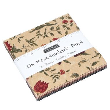 On Meadowlark Pond   Kansas Troubles Quilters   Moda Fabrics   Charm Pack