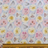 Pooh Everyday Circles Fabric | Nutex - Main Image