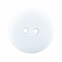 Plain White Buttons | 18 mm | Trimits (S1008)