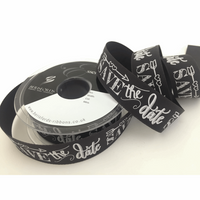 Berisfords | Save the Date Ribbon | 25mm | Half Metre Lengths