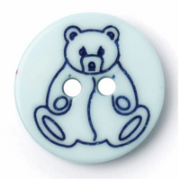 Round Buttons | 15mm | Blue Teddy | 2B\1940