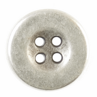 Round Buttons | 15mm | Silver Metal | S1025