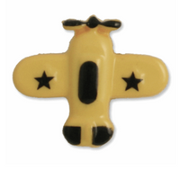 Airplane Shank Button | 18mm | Yellow/Black | Trimits | G4289\3