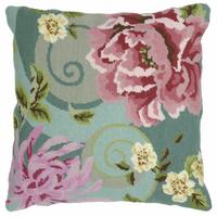 Anchor Tapestry Kit | 40cm x 40cm | Floral Swirl in Green Living Cushion Kit | ALR01