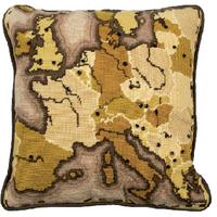 Anchor Tapestry Kit | 40 x 40cm | Sepia Map Living Cushion Kit | ALR57