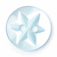 Round Buttons - Star Engraved | 13mm | Light Blue | 2B\210