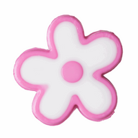 Flowers Buttons | Dark Pink | 15 mm