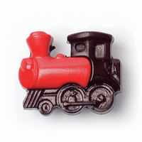 Red Train Buttons | 17mm | Red/Black | 2B\1008