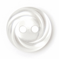 ABC Loose Buttons| White Swirl| 13mm
