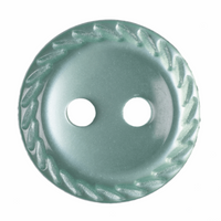 Polyester Cut Edge Buttons| 11mm| Pale Green