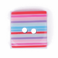 Square Striped Buttons | 21mm | 2 Hole