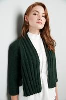 Shiregreen, Mid Sleeve Cardigan Knitting Pattern | Erika Knight Wild Wool