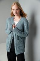 Hampstead Heath, Oversized Cardigan Knitting Pattern | Erika Knight Wild Wool