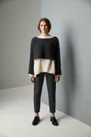 Sussex Square Sweater Aran Knitting Pattern | Erika Knight Wild Wool