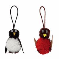 Trimits | Pom Pom Decoration Kit | Robin & Penguin | Final Result