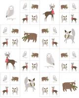 Merriment | Gingiber | Moda Fabrics | 48271-11 | Small Animals Panel