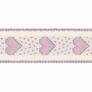 Berisfords | Rustic Heart Ribbon | 15mm | Half Metre Lengths | Pink