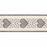 Berisfords | Rustic Heart Ribbon | 15mm | Half Metre Lengths | Grey