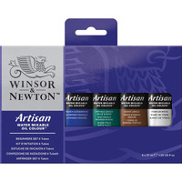 Winsor & Newton Artisan Water Mixable Oils Beginner Set 37ml 6pc - Front View