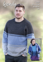 Over Sized Sweater for Men or Women   Wendy With Wool DK   P6099 - Main image