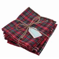 Tartan Fat Quarter Bundle | 4 pieces | Red Selection