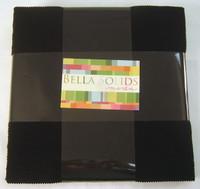 Bella Solids | Moda Fabrics | Black | Layer Cake