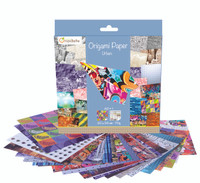 'Urban' 70g Origami Paper | 20 cm x 20 cm | 60 Sheets + 1 Eye Sticker Sheet - Whats in the box!