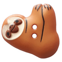 Sloth Buttons | 25 mm | Brown | Dill Buttons (341299)
