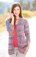 Cardigan, Mozart Knitting Pattern - Adriafil Knitcol