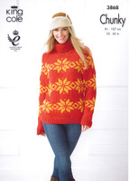 Ladies Hoodie and Long Sweater Chunky Pattern | King Cole Chunky 3868