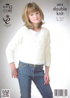 Childs Sweater and Ballet Top DK Pattern | King Cole Galaxy DK 3874