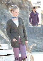 Cardigans Chunky Knitting Patterns | Sirdar Freya Chunky 9880