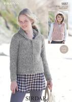 Girls / Ladies Jackets Chunky Patterns | Sirdar Freya Chunky 9887