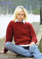 Chunky Easy Knit Sweater Pattern | Wendy Mode Chunky 5408 - Main Image