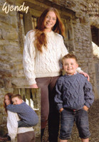 Sweater for Children and Adults Aran Pattern   Wendy Aran 5741