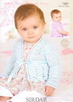 Babies / Childs Cardigans 4 Ply Pattern | Sirdar Snuggly 4 Ply 1520