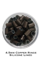 4.5mm Silicone Lined Copper Rings x 100
