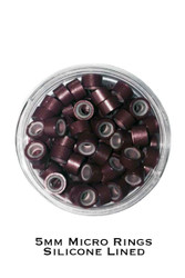 5mm Silicone Lined Micro Rings - Pack of 100 - For Stick Tip Hair Extensions