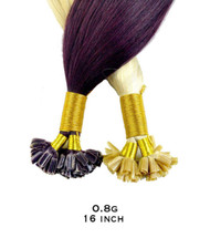 PRACTICE HAIR - 0.8g 16 inch Hair Extensions Italian Keratin Nail U Tip (pack of 25)