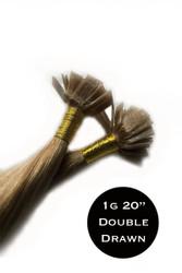 PRACTICE HAIR - 20 x 1g 20 inch Double Drawn Flat Tips Hair Extensions Italian Keratin