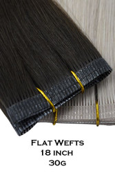 Double Drawn Flat Weft - 18 inch 30g
