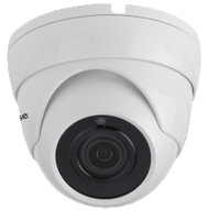 CCTV Dome Camera 2.4MP Fixed Lens for TVI, AHD, CVI, and Analogue In/Out door (White)