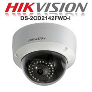 HIKVISION DS-2CD2142FWD-I HD Dome Camera 4MP Fixed Lens IR Range 30M IP Outdoor (White)