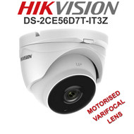 HIKVISION DS-2CE56D8T-IT3ZE Dome Camera Varifocal Motorised EXIR  WDR In/Out door (White)