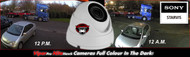 CCTV Dome Camera 1080p Sony Starvis 2.4MP Fixed Lens Night Vision for HD TVI CVI AHD Analogue DVR Outdoor (White)