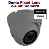 CCTV Dome Camera 1080p Sony Starvis 2.4MP Fixed Lens Night Vision for HD TVI CVI AHD Analogue DVR Outdoor (Grey)