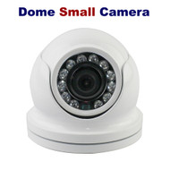 CCTV Dome Small Camera 1080p 2.4MP Sony Fixed Lens Night Vision for HD TVI CVI AHD Analogue DVR Outdoor (White)