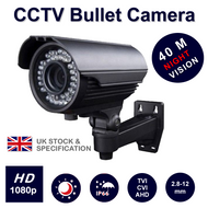 Bullet Camera HD 1080p 2.4MP Sony Varifocal lens IR Range 40M HDTVI HDCVI  AHD Outdoor UK seller (Grey)