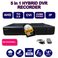 Viper Pro: HYBRID 24 CHANNEL DVR Recorder 1080P High Definition  for AHD HDTVI, IP, Analogue Cameras