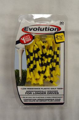 "Pride Evolution Golf Tees 2 3/4"" - Yellow with Stripe"